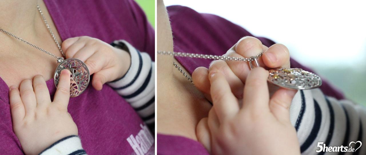 7 Monate Baby - Entdecken der Halskette